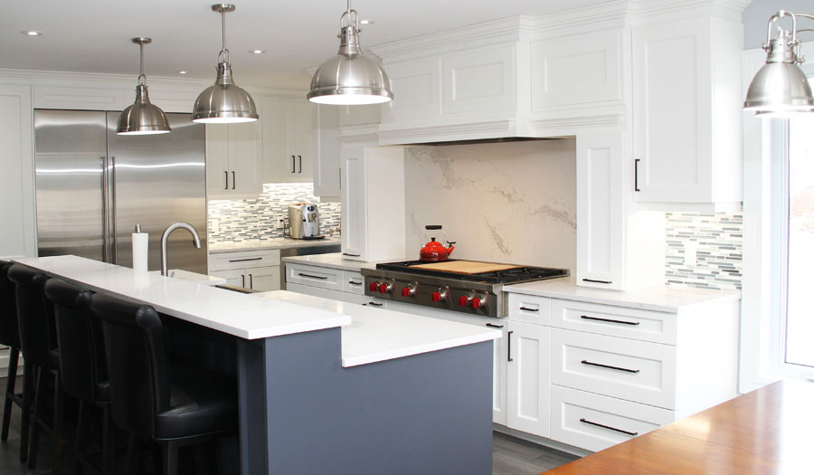 ANJAC Construction Interior Projects Kitchens Bathrooms Libraries Basements In-Law Suites Fireplaces Doors Custom Cabinets & Mouldings Ceramic, Natural Stone & Porcelain Tile Hardwood & Laminate Flooring